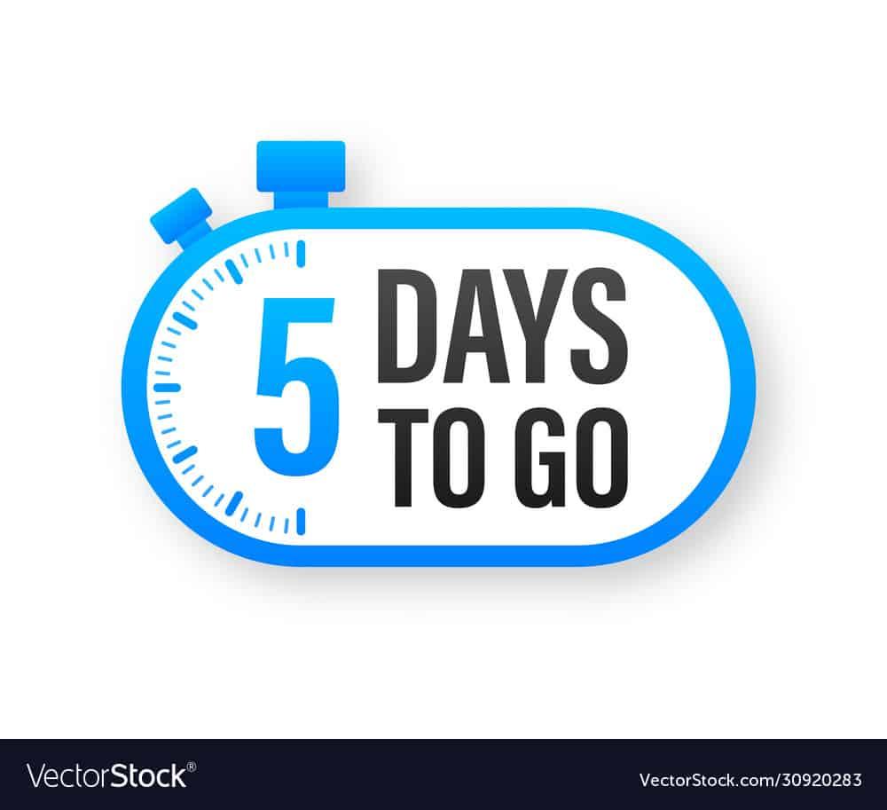 5 Days to go Countdown timer WordPress Plugin