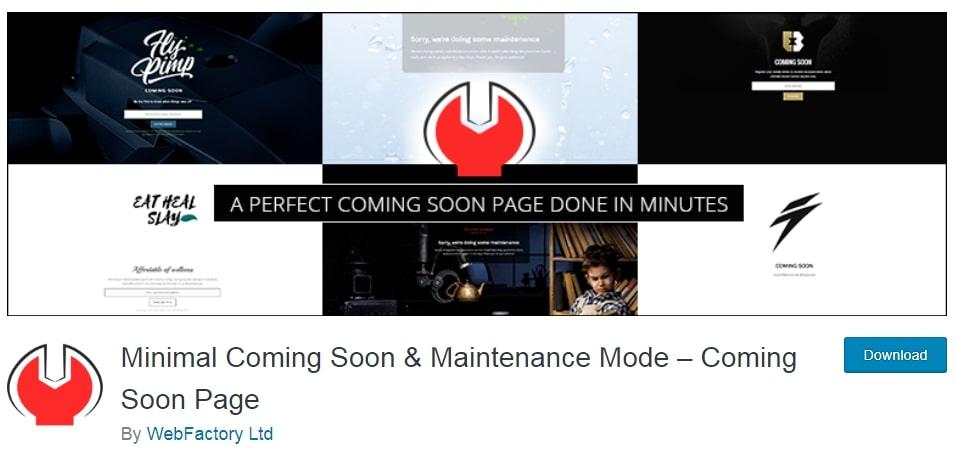 Minimal Coming Soon and Maintenance Mode Plugin
