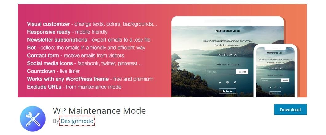 WP Maintenance Mode