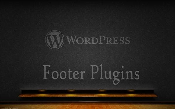 WP footer plugins