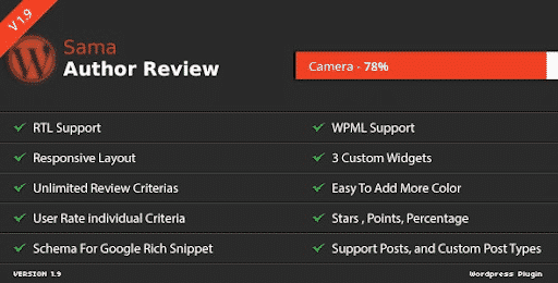 Sama Author Review WordPress Plugin