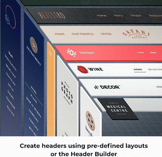 premium header builder