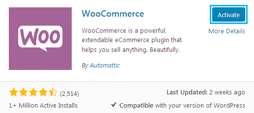 woocommerce installton
