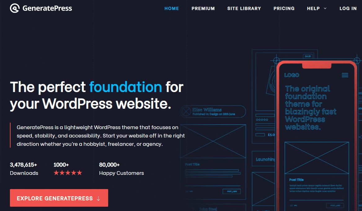 GeneratPress theme