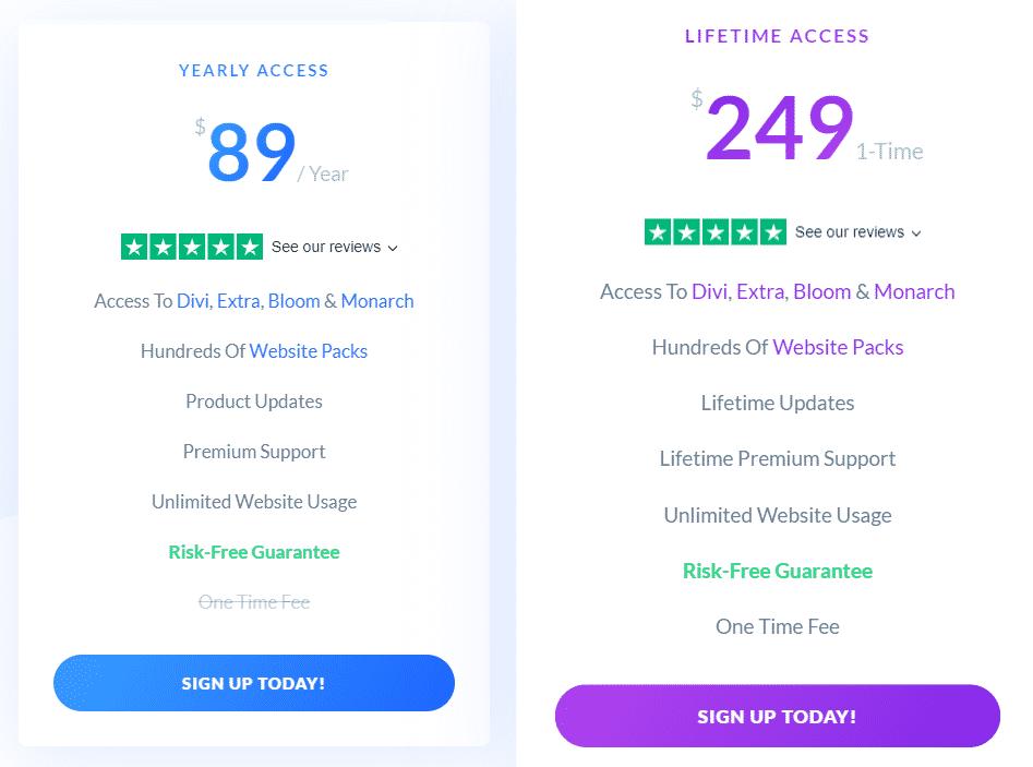 Divi Pricing